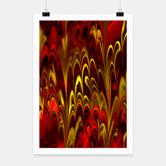 Thumbnail image of Marbled Red Fountain Poster, Live Heroes