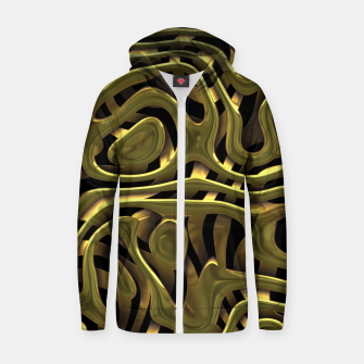 Thumbnail image of Golden Liquid Metal Cotton zip up hoodie, Live Heroes