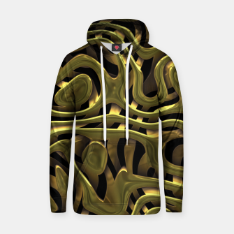 Thumbnail image of Golden Liquid Metal Cotton hoodie, Live Heroes