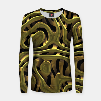 Thumbnail image of Golden Liquid Metal Woman cotton sweater, Live Heroes