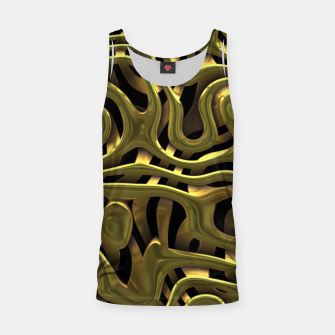 Thumbnail image of Golden Liquid Metal Tank Top, Live Heroes