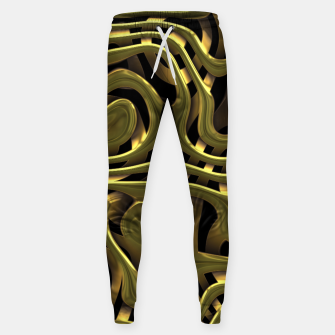 Thumbnail image of Golden Liquid Metal Cotton sweatpants, Live Heroes