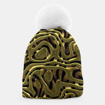 Thumbnail image of Golden Liquid Metal Beanie, Live Heroes