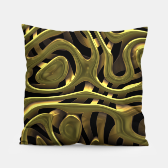 Thumbnail image of Golden Liquid Metal Pillow, Live Heroes