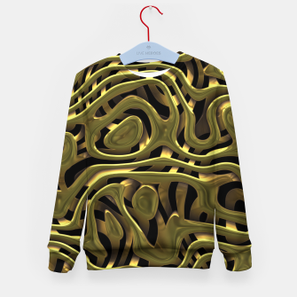 Thumbnail image of Golden Liquid Metal Kid's sweater, Live Heroes