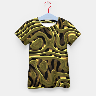 Thumbnail image of Golden Liquid Metal Kid's t-shirt, Live Heroes