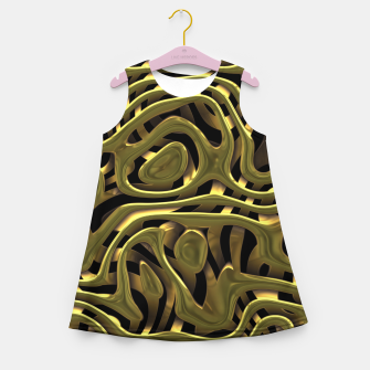 Thumbnail image of Golden Liquid Metal Girl's summer dress, Live Heroes
