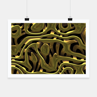 Thumbnail image of Golden Liquid Metal Poster, Live Heroes