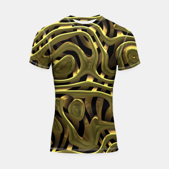 Thumbnail image of Golden Liquid Metal Shortsleeve rashguard, Live Heroes