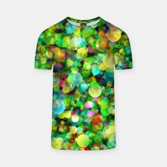 Thumbnail image of Spring Colorful Bokeh Circle blur T-shirt, Live Heroes