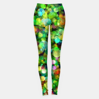 Thumbnail image of Spring Colorful Bokeh Circle blur Leggings, Live Heroes