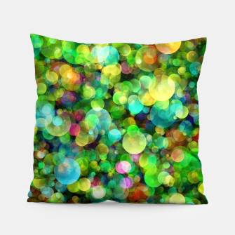 Thumbnail image of Spring Colorful Bokeh Circle blur Pillow, Live Heroes
