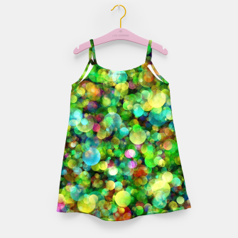 Thumbnail image of Spring Colorful Bokeh Circle blur Girl's dress, Live Heroes