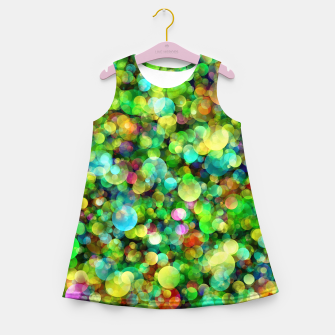 Thumbnail image of Spring Colorful Bokeh Circle blur Girl's summer dress, Live Heroes