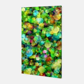 Thumbnail image of Spring Colorful Bokeh Circle blur Canvas, Live Heroes