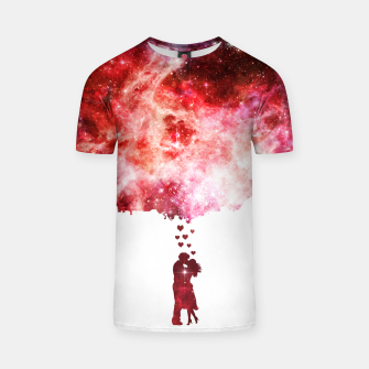 Miniatur Love is in the...space T-shirt, Live Heroes
