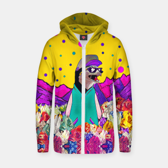 Thumbnail image of Colourful mountains Cotton zip up hoodie, Live Heroes