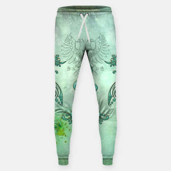 Miniaturka Surfing, surfboards with palm trees and wave Cotton sweatpants, Live Heroes