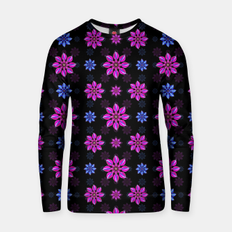 Thumbnail image of Stylized Dark Floral Pattern Cotton sweater, Live Heroes