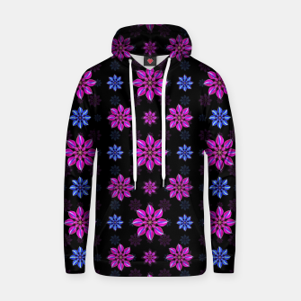 Thumbnail image of Stylized Dark Floral Pattern Cotton hoodie, Live Heroes