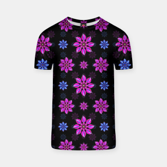 Thumbnail image of Stylized Dark Floral Pattern T-shirt, Live Heroes