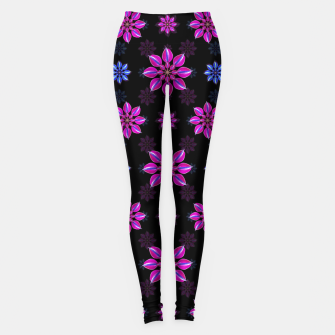 Thumbnail image of Stylized Dark Floral Pattern Leggings, Live Heroes