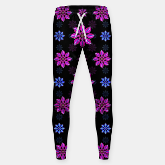 Thumbnail image of Stylized Dark Floral Pattern Cotton sweatpants, Live Heroes