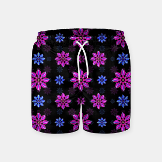 Thumbnail image of Stylized Dark Floral Pattern Swim Shorts, Live Heroes