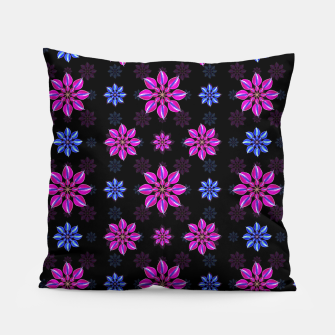 Thumbnail image of Stylized Dark Floral Pattern Pillow, Live Heroes