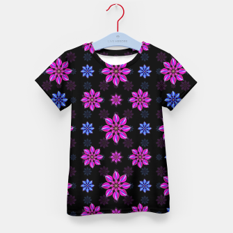 Thumbnail image of Stylized Dark Floral Pattern Kid's t-shirt, Live Heroes
