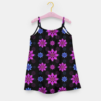 Thumbnail image of Stylized Dark Floral Pattern Girl's dress, Live Heroes