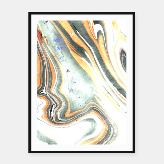 Miniaturka Abstract Marble Framed poster, Live Heroes