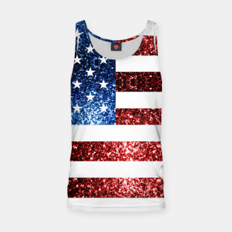 Thumbnail image of USA flag red blue sparkles glitters Tank Top, Live Heroes