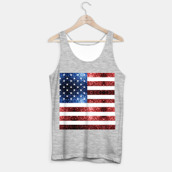 Thumbnail image of USA flag red blue sparkles glitters Tank Top regular, Live Heroes