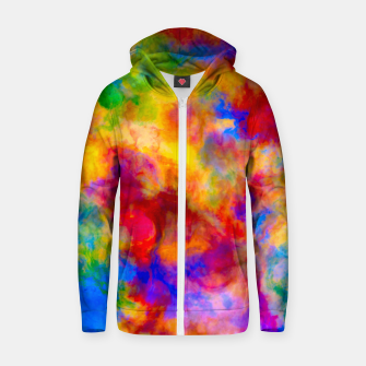 Color Freak Holi Clouds Cotton zip up hoodie thumbnail image