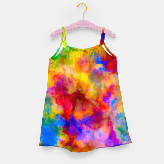 Color Freak Holi Clouds Girl's dress thumbnail image