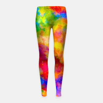 Color Freak Holi Clouds Girl's leggings thumbnail image