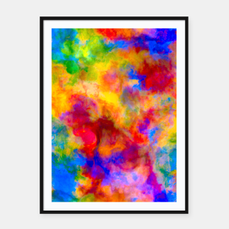 Color Freak Holi Clouds Framed poster thumbnail image