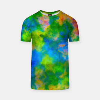 Thumbnail image of Color Freak Holi Clouds Blues T-shirt, Live Heroes