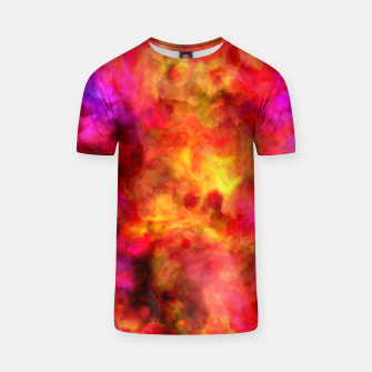 Thumbnail image of Color Freak Holi Clouds Red Love Pink T-shirt, Live Heroes