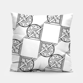 Thumbnail image of Art Deco Architecture Pillow, Live Heroes