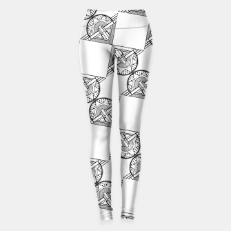 Thumbnail image of Art Deco Architecture Leggings, Live Heroes