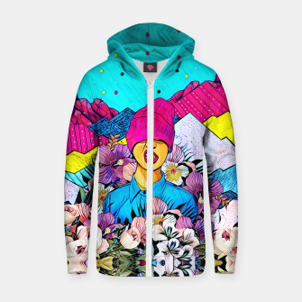 Miniatur Colors Cotton zip up hoodie, Live Heroes