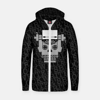 Writer's Block Cotton zip up hoodie thumbnail image