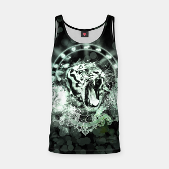 Thumbnail image of Awesome tiger on black background Tank Top, Live Heroes