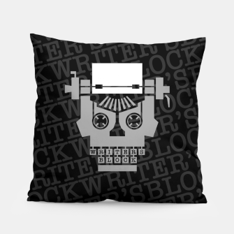 Thumbnail image of Writer's Block Pillow, Live Heroes