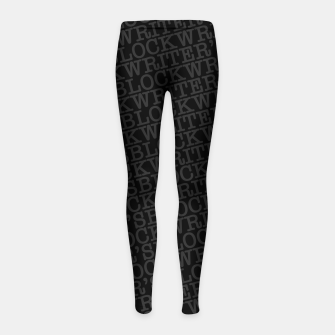 Writer's Block Girl's leggings thumbnail image