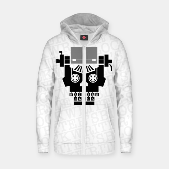 Thumbnail image of Writer's Block II Cotton zip up hoodie, Live Heroes