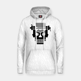 Thumbnail image of Writer's Block II Cotton hoodie, Live Heroes
