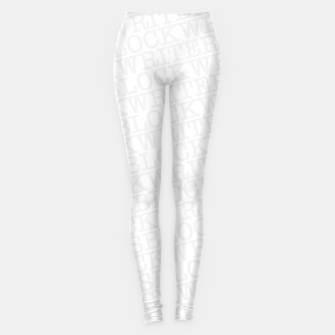 Thumbnail image of Writer's Block II Leggings, Live Heroes